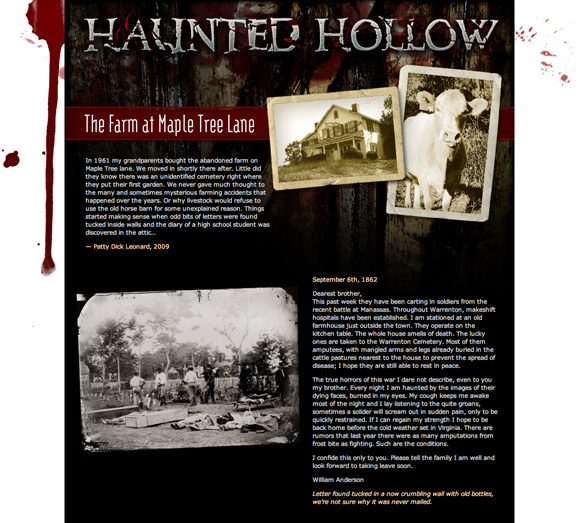 Haunted Hollow secondary page