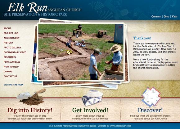 Elk Run home page